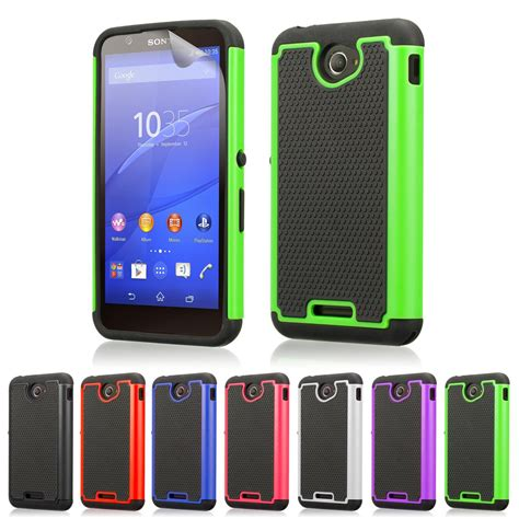 Casing Hp Xperia E dual layer shockproof cover for sony xperia e4 screen protector stylus ebay