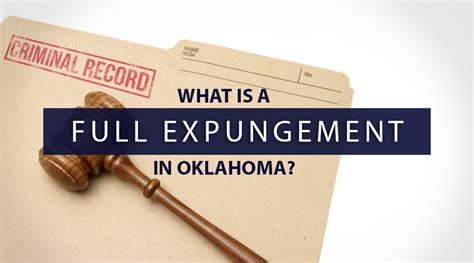 How Do You Get A Misdemeanor Expunged From Your Record What Is A Expungement In Oklahoma
