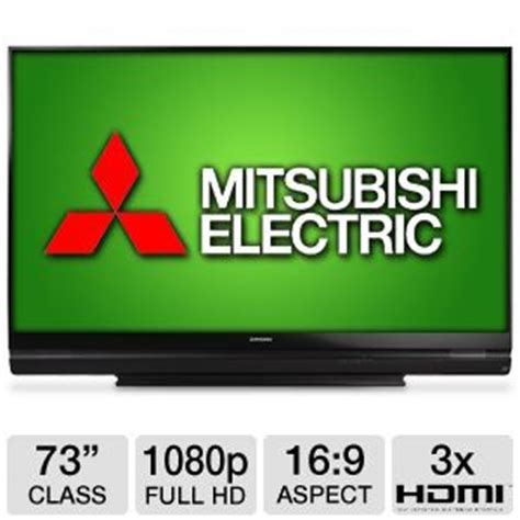 mitsubishi 1080p dlp hdtv l mitsubishi wd73740 73 class 3d dlp hdtv 1080p 16 9