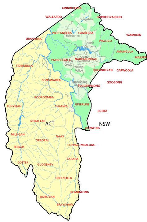 map of australia with territories australian capital territory map map of australia region
