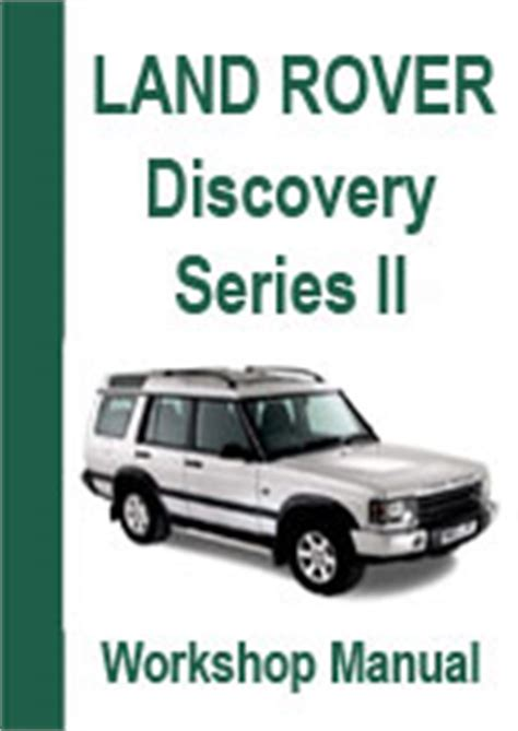 free download parts manuals 2003 land rover discovery on board diagnostic system land rover discovery series ii workshop repair manual