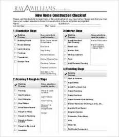 home construction checklist template construction checklist template 10 free word pdf