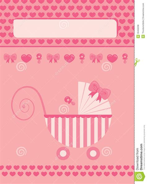 free printable greeting cards new born baby new born baby girl greeting card stock vector
