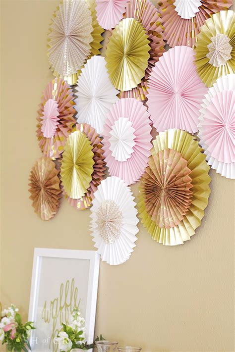 Paper Fan Decorations How To Make - paper fan paper rosette diy paper paper paper and