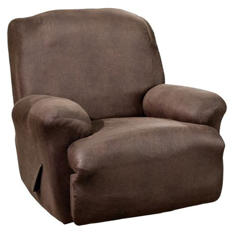 sure fit recliner slipcovers stretch leather recliner slipcover sure fit target