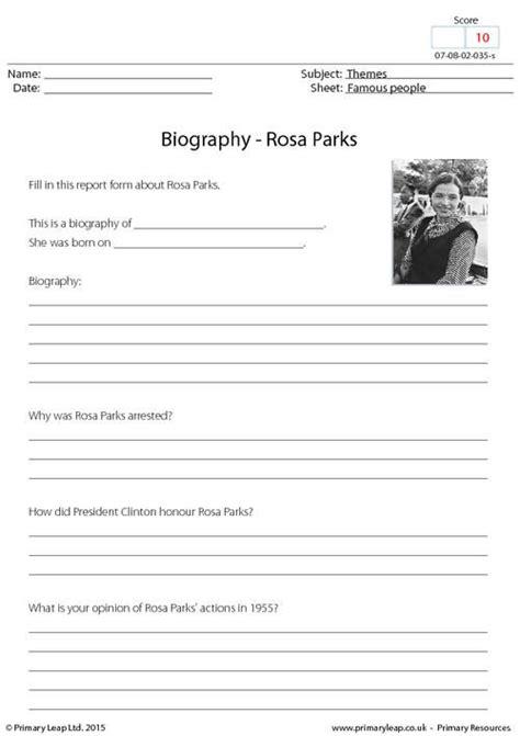 muhammad ali biography worksheet primaryleap co uk biography rosa parks worksheet