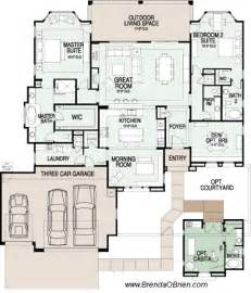 3 Bedroom House Plans One Story saddlebrooke preserve floor plan sabino model