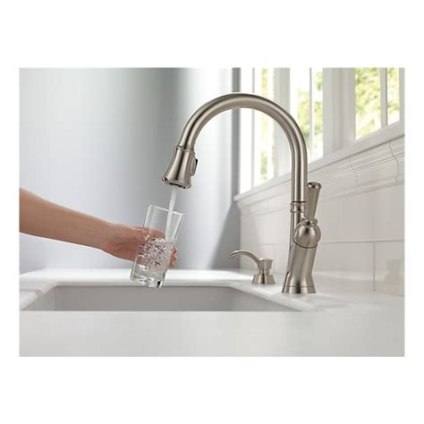 delta savile kitchen faucet 19949 sssd dst single handle pull kitchen faucet