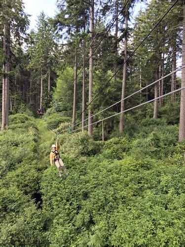 nw awning canopy tours nw zipline adventures on camano island