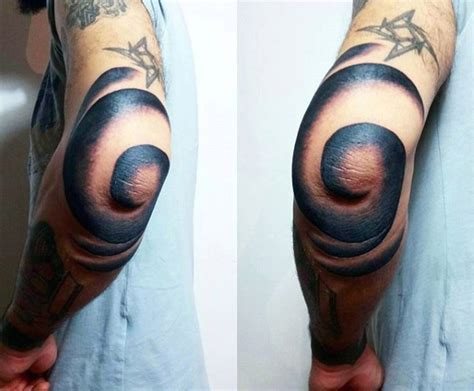 cool elbow tattoos 66 spiral tattoos