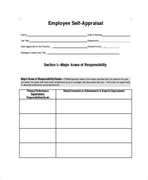 simple performance appraisal form carbon materialwitness co