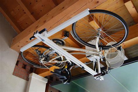 flat bike lift ceiling overhead bike rack for city bike flat bike lift