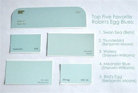 top 5 quot robin s egg quot blues swan sea behr thunderbird benjamin watery sherwin