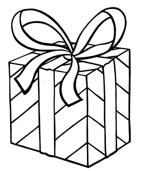 wrapped present coloring page kerst kleurplaten