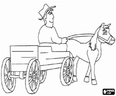 horse and carriage coloring pages coloring pages