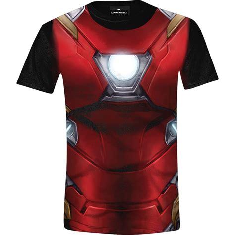 Kaos Civil War Captain America Iron T Shirt Civil War Capta 1 captain america civil war iron costume printed t shirt black apparel t shirt