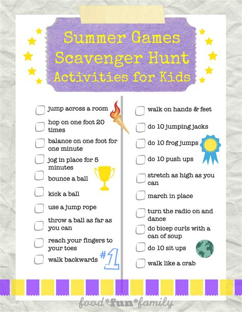 On The Hunt For by Summer Scavenger Hunt Activities For