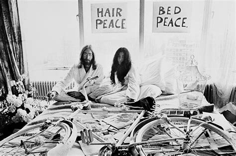 john lennon bed in john lennon and yoko ono s bed in photo essays time