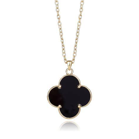 four leaf clover pendant necklaces gold clover pendant
