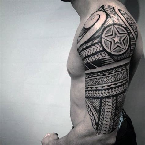 tattoo sleeve inspiration 75 half sleeve tribal tattoos for men masculine design ideas
