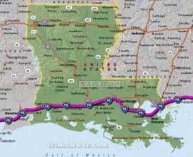 i 10 louisiana map