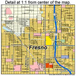fresno california map 0627000