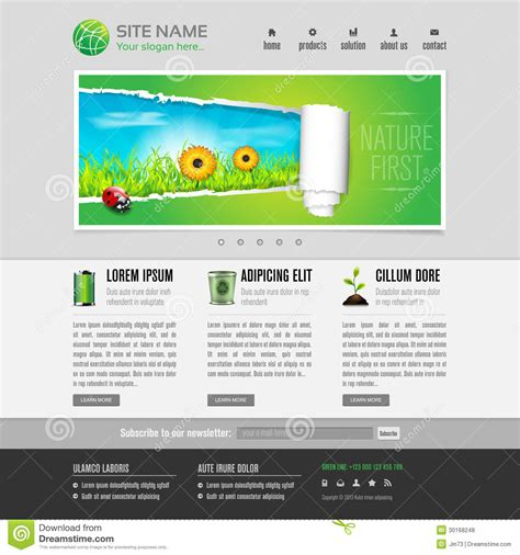 Green Eco Website Template Royalty Free Stock Photos Image 30168248 Copyright Free Website Templates