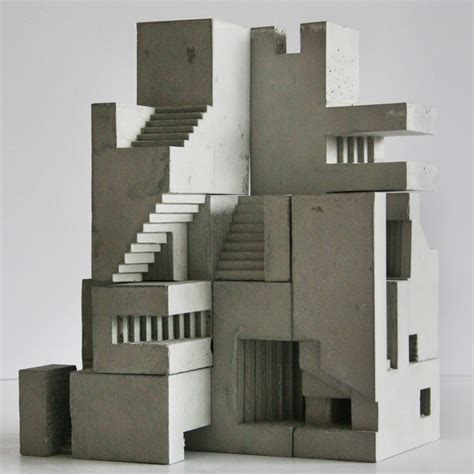 concrete concept brutalist buildings 0711237646 miniature concrete sculptures of brutalist structures can be used like grown up lego creative boom