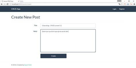 Membuat Web Sederhana Dengan Laravel | membuat crud laravel hanya dengan 5 menit gilacoding