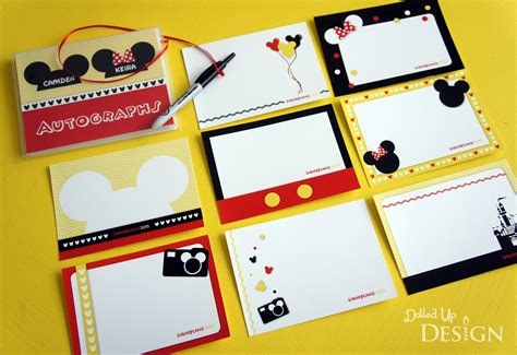 Designed To Sign Diy Disney Autograph Book Autograph Card Template