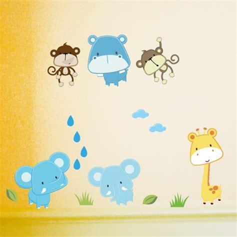 Jung Anti Rutsch Aufkleber by Wandsticker Set A4 Baby Safari Tiere