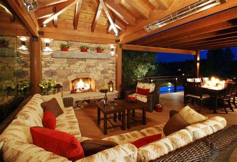 colorado outdoor living room rustic deck denver
