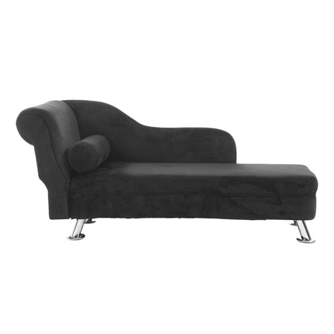 Home Goods Chaise Lounge homcom 62 quot plush chaise lounge chair black chairs furniture home goods