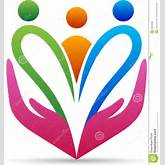 vector drawing represents family caring hands design.