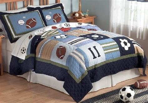 sports bedding all state sports quilt and sham set kids decorating ideas
