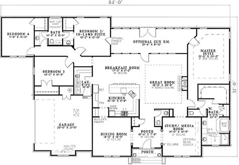 house plans with two master suites on main floor two master suites 59914nd 1st floor master suite cad