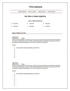 blank pdf free exles resume free blank resume templates health symptoms and cure