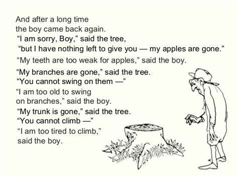 boy on a swing poem the giving tree by shel silverstein