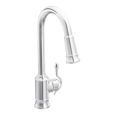 moen woodmere single handle single hole kitchen faucet reviews wayfair