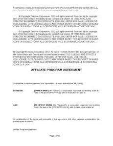 Affiliate Contract Template affiliate program agreement template hashdoc