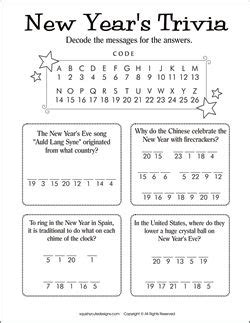 new year activities for reception new years trivia for new years activities for