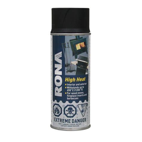 high heat paint high heat spray paint 340g flat black rona