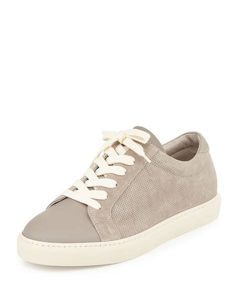 s low top sneakers brunello cucinelli s perforated suede low top sneaker
