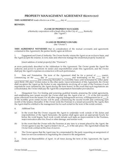 Property Manager Salary Kentucky Kentucky Rental Property Management Agreement