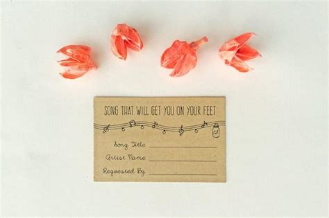 Wedding Song Request Card by Annabelle Editable Wedding Song Request Card Rustic