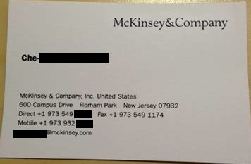 goldman sachs business card mckinsey company bizcardz