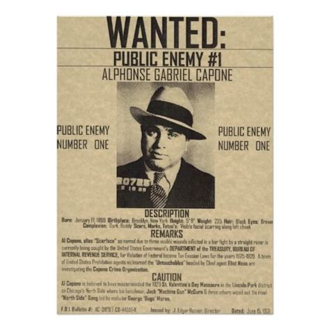 Al Capone Criminal Record The World S Catalog Of Ideas