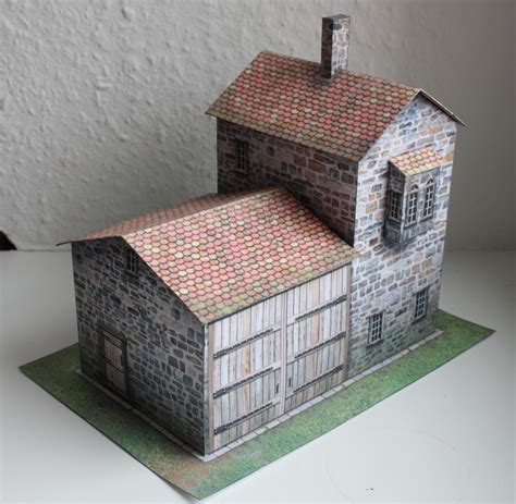 papercraft terrain of steam and axe