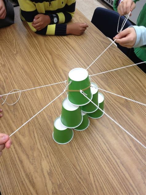 rubber sting projects ms sepp s counselor corner teamwork cup stack