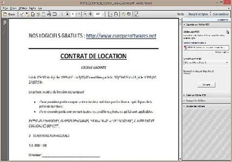 Contrat Location Meublée Gratuit by Modele Bail Location Gratuit Word Document